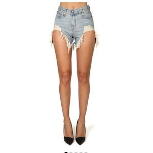 R13 shredded slouch cutoff shorts 24 edgy and fun!